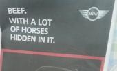 Mini Launches Cheeky Horsemeat Themed Ad.