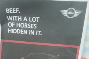 Mini Launches Cheeky Horsemeat Themed Ad.