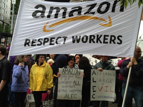 AmazonProtestBigSign