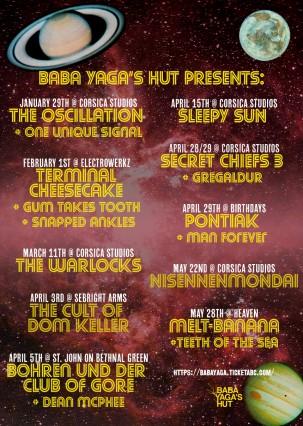 baba yaga's hut gig listings music