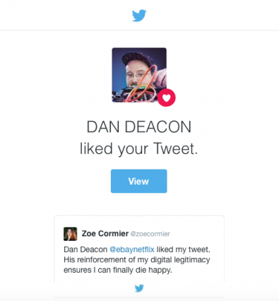 Dan Deacon tweet