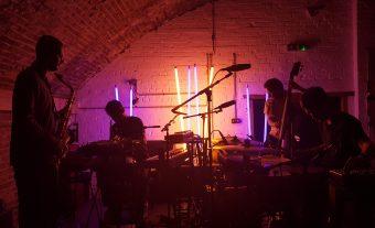 Hanging with Portico Quartet at Archspace